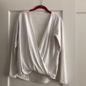 lululemon wrap front long sleeve top